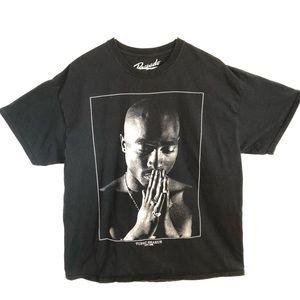 🦋 Tupac Shakur Praying Graphic Shirt sz XL
